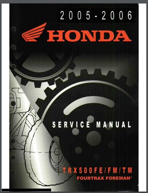 Honda trx 500 Service Repair Manual