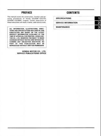 honda gx390 service manual