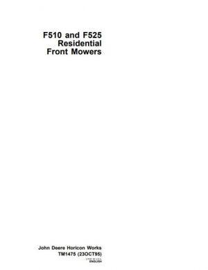john deere f525 service manual