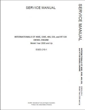 International DT466 530 466E 530E Service Repair Manual