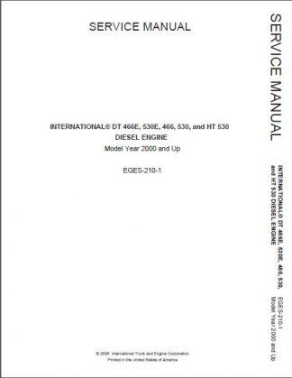 International DT466 530 466E 530E Service Repair Manual