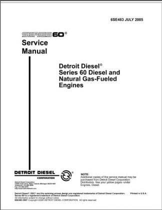 detroit diesel series 60 service manual