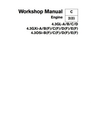 Volvo Penta 4.3 Engine Service Manual
