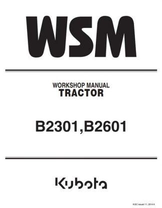 Kubota B2301,B2601 Workshop Manual