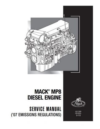 2009 Mack MP8 Diesel Engine Service Manual