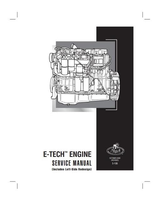 2000 Mack E7 E-Tech Engine Service Manual