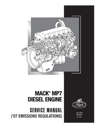 2009 Mack MP7 Diesel Engine Service Manual