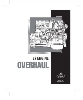 1997 Mack E7 Engine Overhaul Service Manual