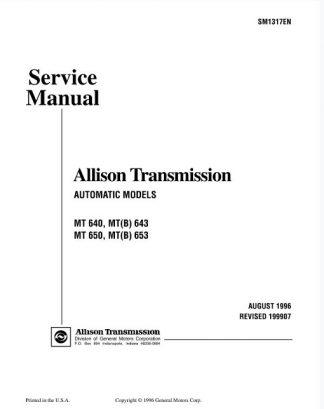 Allison 653 Service Manual