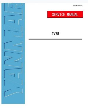 Yanmar Industrial Diesel Engine 2V78 Service Manual