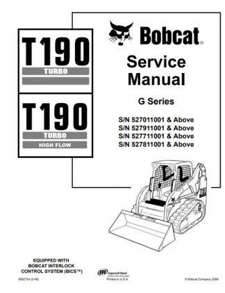 Bobcat T190 Turbo Service Manual
