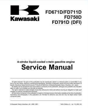 Kawasaki FD671D,FD711D,FD750D,FD791D Service Manual