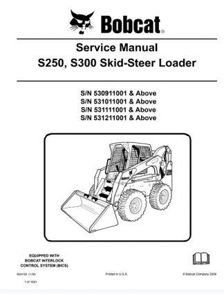 Bobcat S250, S300 Skid-Steer Loader Service Manual