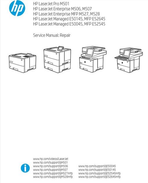 HP LaserJet Enterprise MFP M527, M528 Service Manual
