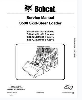 Bobcat S590 Skid Steer Loader Service