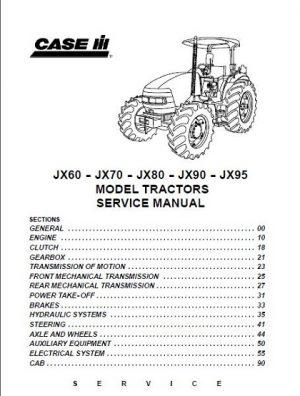 Case Ih Tractor Jx60 Jx70 Jx80 Jx90 Jx95 Service Manual