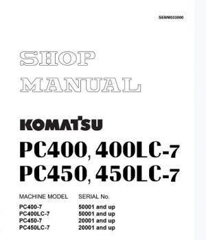 Komatsu Pc400lc-7, Pc450lc-7 Excavator Shop Manual