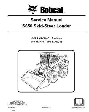 Bobcat S650 Service Manual