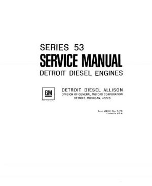 Detroit Diesel Series 53 Service Manual