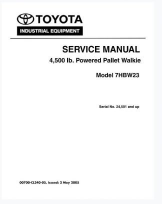Toyota 7HBW23 Service Manual