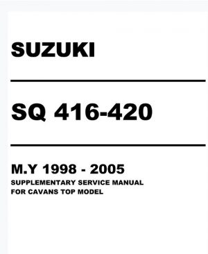 1998-2005 Suzuki Grand Vitara Service Manual