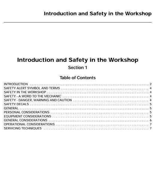 Massey Ferguson Mf3600 Mf 3600 Series Tractor Service Repair Manual