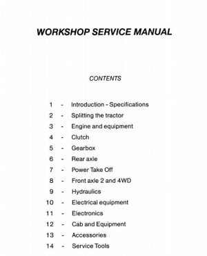Massey Ferguson 6100 Series Tractor Workshop Service Manual