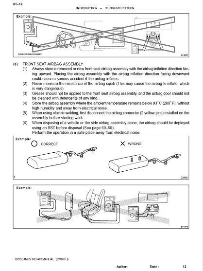 Toyota Camry 2002-2006 Service Repair Manual