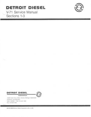 Detroit Diesel Engines V-71 Service Manual