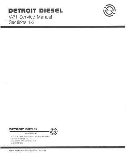 Detroit Diesel Engines V-71 Service Manual
