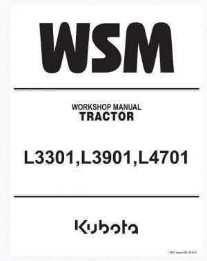 Kubota L3301, L3901, L4701 Tractor Workshop Manual