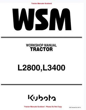 Kubota L2800 L3400 Tractor Workshop Manual
