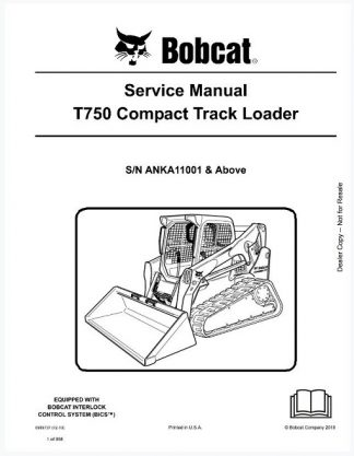Bobcat T750 Compact Track Loader Service Manual