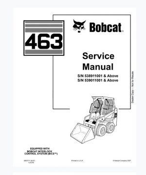 Bobcat 463 Skid Steer Loader Service Manual