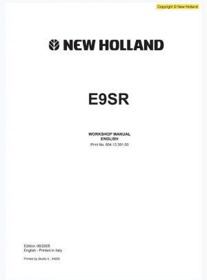 New Holland E9SR Excavator Workshop Manual