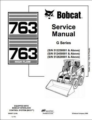 Bobcat 763 High Flow G Series Service Manual