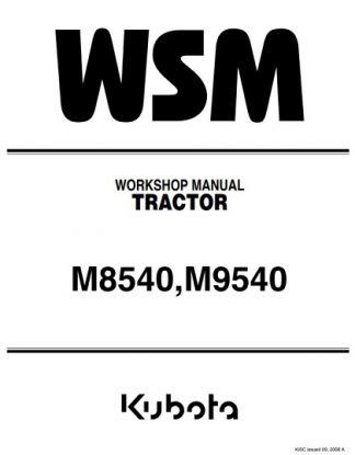 Kubota M8540, M9540 Tractor Workshop Manual