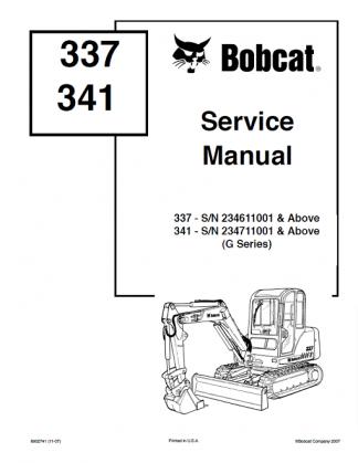 Bobcat 337, 341 G Series Service Manual