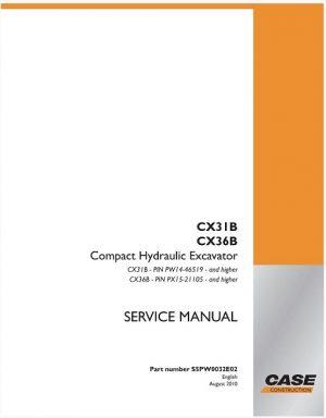 Case Cx31b Cx36b Service Manual