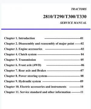 TYM T290 T300 T330 Service Manual