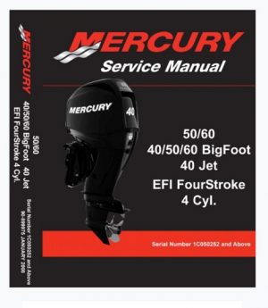 Mercury Mariner 40 50 60 4-Stroke EFI Outboard Service Manual