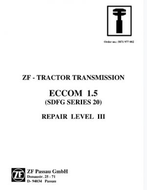ZF Tractor Transmission ECCOM 1.5 Service Repair Manual