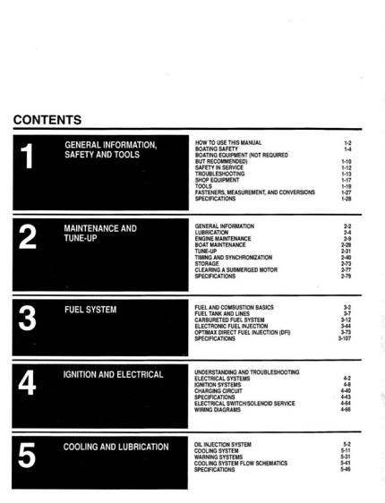 2001-2005 Mercury Mariner Outboard 2.5hp-225hp Service Manual