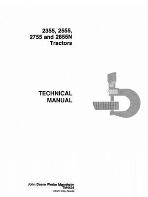 John Deere 2355, 2555, 2755, 2855N Tractors Technical Manual