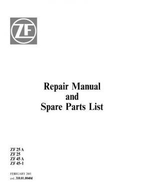 ZF Marine ZF Marine ZF 25 A, ZF 25, ZF45 A, ZF45-1 Service Repair Manual