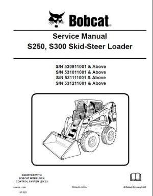 Bobcat S250, S300 Skid - Steer Loader Service Repair Manual