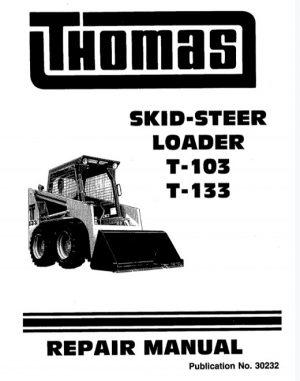 Thomas T-133, T-103 Skid Steer Loader Service Manual