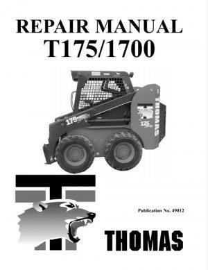 Thomas T175 T1700 Skid Steer Loader Service Manual