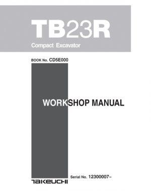 Takeuchi TB23R Compact Excavator Service Manual