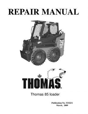 Thomas 85 Skid Steer Loader Service Repair Manual